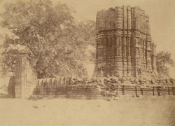 General view of dilapidated large temple at Janjgir, Bilaspur District